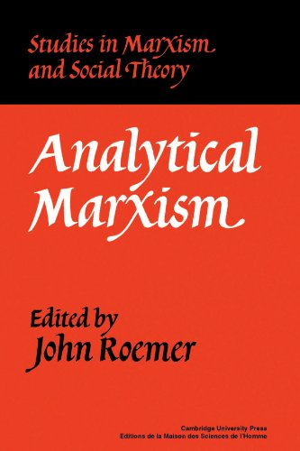Analytical Marxism Paperback (Studies in Marxism and Social Theory)