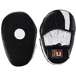 Ju-Sports Manoplas de boxeo de piel negro negro/blanco Talla:talla única