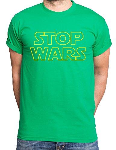 Stop Wars maglietta da uomo Star Vader Wars Yoda Jedi Luke Skywalker Grigio XXXXL