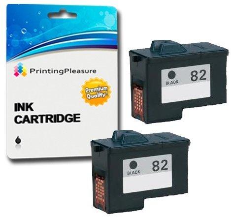 2 Tintenpatronen kompatibel zu Lexmark No. 82 für Lexmark X5100 X5130 X5150 X5190 X5200 X6100 X6150 X6170 X6190 X65 Z55 Z55se Z65 Z65n Z65p - Schwarz, hohe Kapazität Lexmark Tintenpatronen X6170
