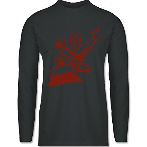 Handwerk - Raupenfahrer - Longsleeve / langärmeliges T-Shirt für Herren Anthrazit