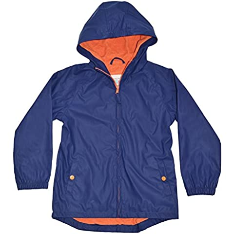 Splash About Kid 's Antipioggia cappotto, Waterproof, Blau - Marine/Orange, 5-6 anni