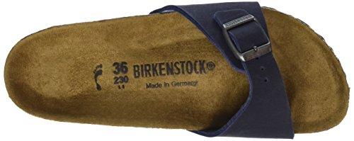Birkenstock Madrid Vegan Unisex-Erwachsene Pantoletten Blau (Navy)