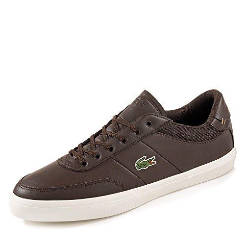 Lacoste 735CAM00161W7 Herren Court-Master Sneaker Glattleder Lederimitatbesatz, Groesse 7,5, Dunkelbraun