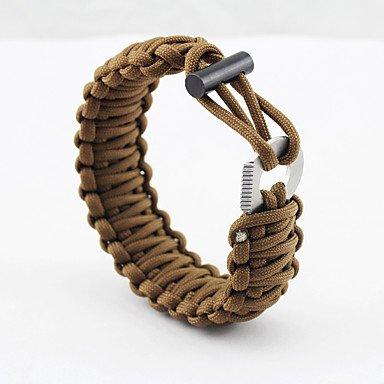 Survival Bracelet Hiking Camping Travel Outdoor Multi Function Nylon pcs , cyan