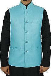 LaRainbow Mens Bandhgala Modi Jacket-Blue2 (42)