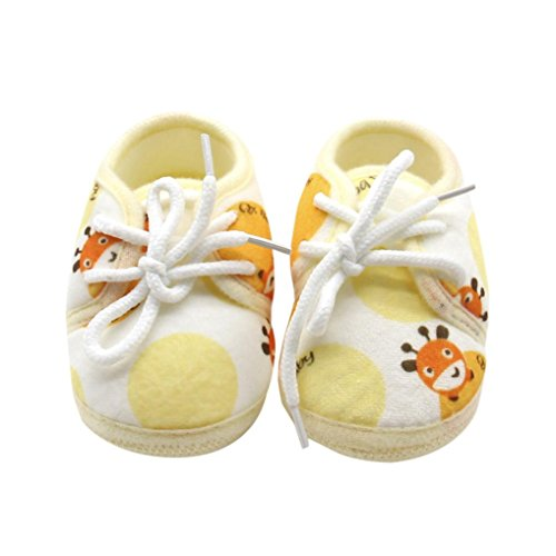Chaussures de bébé Sneakers, SHOBDW Chaussons pour bébés né pour bébés pour enfants Jaune