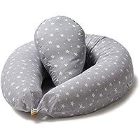 Niimo Almohada Embarazo y Cojin Lactancia Bebe + Soft Cojìn Dormir y Abrazar Funda Cojines 100% Algodon Desenfundable y Lavable