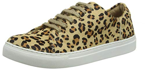 Tom Joule Joules Damen Solena Luxe Sneaker, Braun Leopard, 40/41 EU - Luxe Leopard