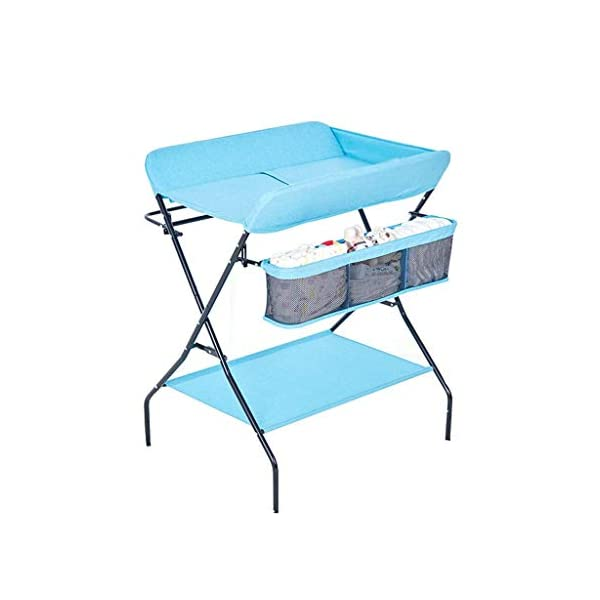YRR Changing Table Folding Diaper Station Nursery Organizer for Infant YRR ★Made of rugged material, safe and sturdy construction, and quick and easy assembly design, it is also easy to wipe and clean, foldable, easy to carry, and can be deployed in seconds or indoors. Keep your baby safe ★Size: 80*67*104cm;Applicable baby age: 0~3 years old;Can carry weight: less than 25 kg;Material: Steel Pipe, high quality Oxford cloth ★Foldable design, easy storage, does not occupy space 3