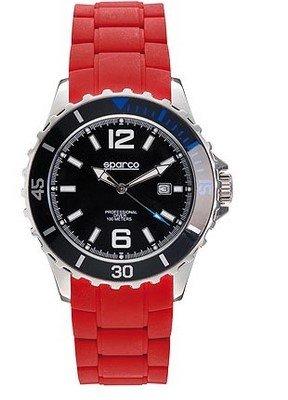 Sparco 099014RS Reloj para Hombre, Rojo