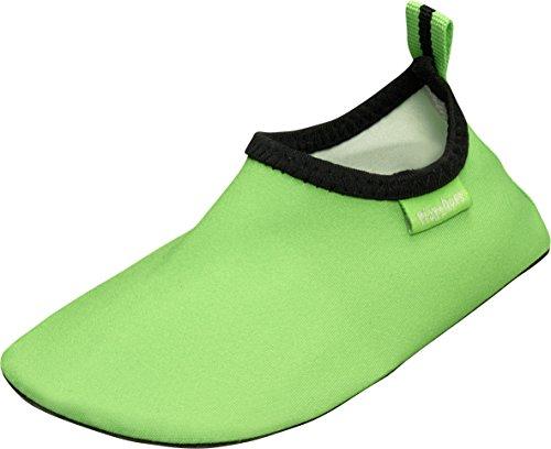 Playshoes Unisex-Kinder Badeslipper, Badeschuhe Uni Aqua Schuhe, (grün), 26/27 EU