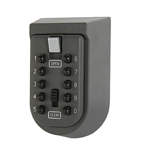 Cassetta con serratura a chiave a parete con combinazione di pulsanti a 10 cifre perfetta per ospiti, inquilini, agenti immobiliari, appaltatori, chiavi di scorta a casa o in ufficio copertura impermeabile esterna e kit di montaggio