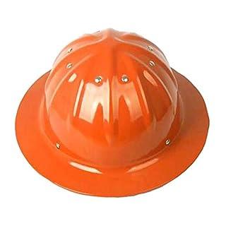 Wen Casque en Aluminium, Grand Chapeau, Parasol, Protection Solaire, site d'impact, Casque d'extérieur (Couleur : Orange)