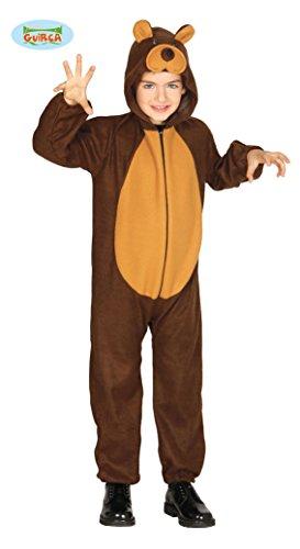 Guirca Teddybär Kostüm für Kinder Gr. 98-134, Größe:128/134