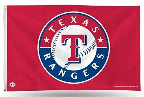 Unbekannt MLB Banner-Flagge, 90 x 152 cm, Texas Rangers, One size