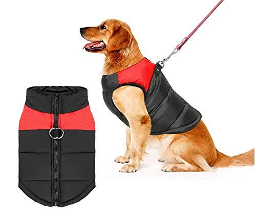 Shinmax Kleine wasserdichte Hundemantel Jacke, Fleece, Warm Gefütterter Brustschutz Puffer Hund Welpen Kleidung Weste für Herbst Winter