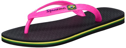 IpanemaClassica Brasil II FEM - Infradito Donna , Multicolore (Mehrfarbig (black pink 8018)), 37
