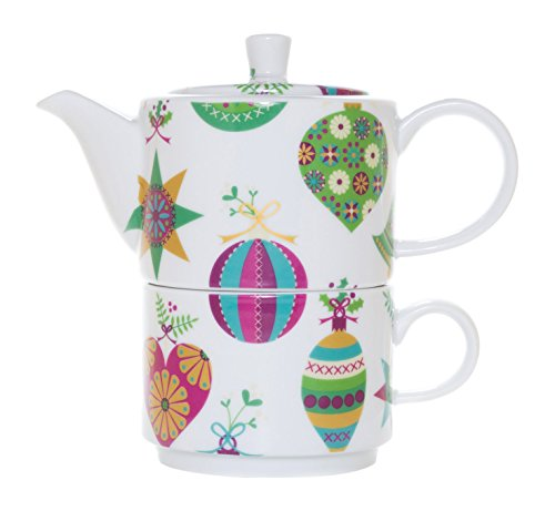 La Cija Bolas de Navidad Tea for One - Set de porcelana...
