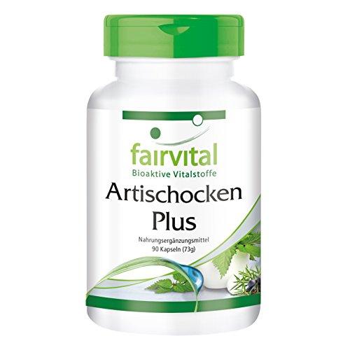 Alcachofa Plus - para 1 mes - VEGANO - 90 cápsulas - con extracto de ortiga 10: 1 y baya de enebro