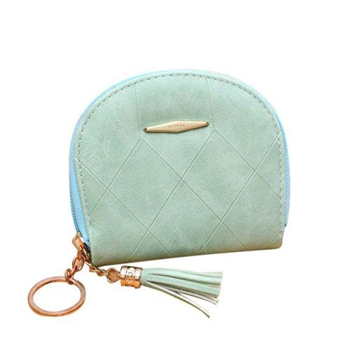 Portafoglio Donna, Tpulling Borsa delle donne semplice borsa della borsa della borsa del raccoglitore della borsa (Beige) Green