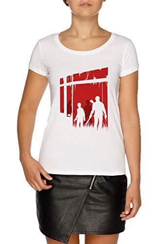 Zuletzt Menschen Damen Weiß T-Shirt Größe XS | Women's White T-Shirt Size XS (The Last Of Us Clicker)