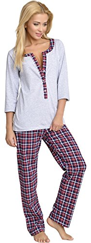 Be Mammy Mujer Lactancia Pijamas Dos Piezas Anette (Melange, M)