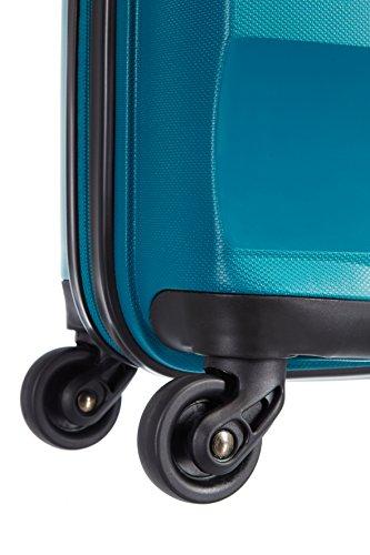 41FGCuAr1sL - American Tourister Bon Air Spinner M Maletas y trolleys, 66 cm, 53 L, Azul (Azul)