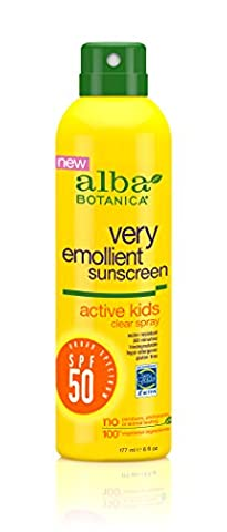 Alba Botanica Sunscreen Very Emollient Clear Spray Spf 50 Active