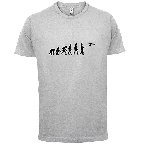Evolution of Man - Ferngesteuerter Hubschrauber - Herren T-Shirt - 13 Farben Hellgrau