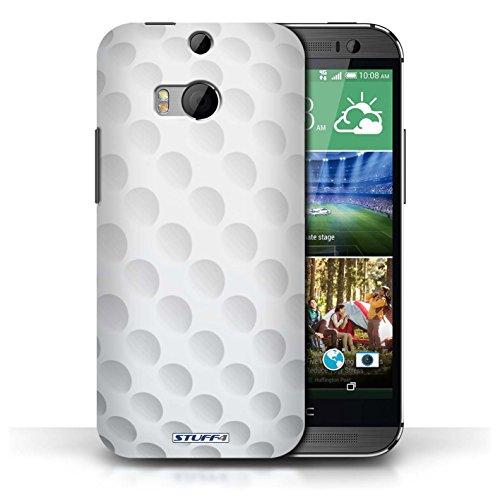 Kobalt® Imprimé Etui / Coque pour HTC One/1 M8 / Football américain conception / Série Balle Sportif Golf