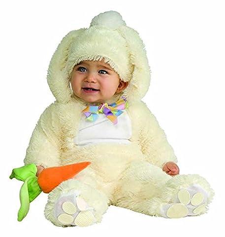Vanilla Bunny tm Overall mit schleudert nicht Sohlen, Kopfbedeckung und Karottenklappern hat von Tuchmaterial gemacht. Baby Größe 12-18