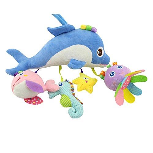 FYX Baby Spielzeug zum Aufhängen für Autositz Gitterbett Kinderwagenkette (Meerestier-Serie)