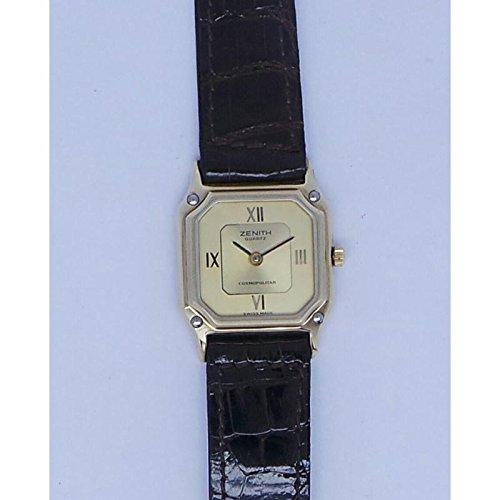 Orologio Zenith COSMOPOLITAN 4272621103 Al quarzo (batteria) Acciaio placcato oro giallo Quandrante Oro giallo Cinturino Pelle