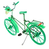 Fenteer Miniatur Fahrrad Figur Geldgeschenk Fahrradmodell Tischdeko, ca. 20 x 6 x 13 cm - Grün