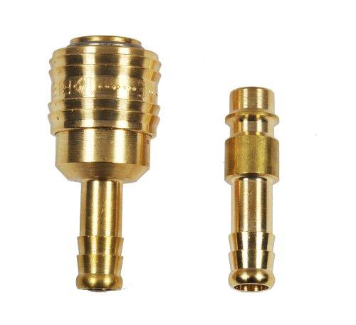 Druckluft Kupplung und Stecknippel 6mm Set 5x