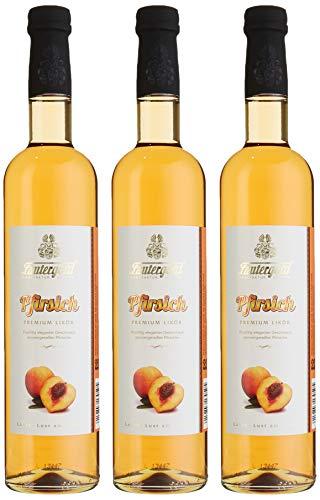 Lautergold Pfirsichlikör Früchte (3 x 0.5 l)