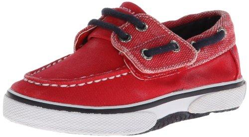 Sperry Halyard Jungen Deck Schuhe -Red-21.5 (Jungen Schuhe Sperry)