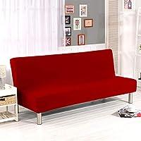 Ocamo Cubierta del sofá exquisitamente Envuelta, Cubierta Protectora elástica, sofá sin reposabrazos Rojo, S