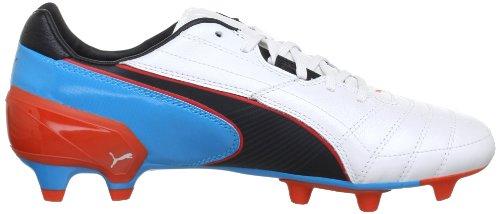 Puma Spirit FG 102671, Scarpe da calcio uomo Bianco (Weiß (metallic white-black-hawa 03))