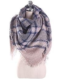 HITSAN INCORPORATION Scarves Women S Scarf Winter Warm Chiffon Shawl  Palestine Thick Cashmere Plaid Pashmina For Dress 2232c6206e0