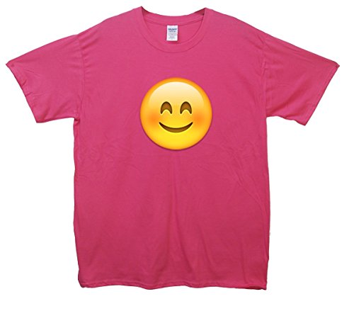 Happy Face Emoji T-Shirt Rosa