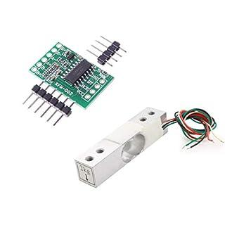 Aihasd Digitale Wägezelle Gewichtssensor 2KG Tragbar Elektronische Küchenwaage + HX711 Wägesensoren Ad modul Für arduino