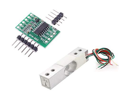 Aihasd Digitale Wägezelle Gewichtssensor 2KG Tragbar Elektronische Küchenwaage + HX711 Wägesensoren Ad modul Für arduino -