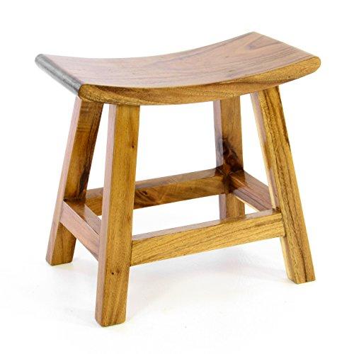 Divero Hocker Sitzhocker Holzhocker Badhocker Duschhocker Schemel – Suar Holz massiv behandelt...