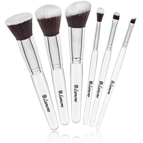 Foundation Kabuki Puder Rouge Lidschatten Blender Pinsel - 6 teiliges Synthetisches Premium Makeup Pinsel Set - Ideal zum Auftragen von jedem Makeup und immer ein tolles Geschenk