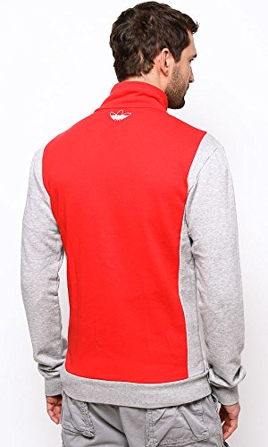 Adidas Herren Slim Fit TT Jacke collegiate red-medium grey heather (F77958)
