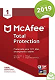 McAfee Total Protection 2019 - Antivirus, PC/Mac/Android/Smartphones, 1 Dispositivo, Suscripción de 1 año...