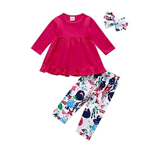 en Kleidung Set 2 Stück Langarm Marienkäfer Muster Kleinkind Outfits für 6M-5 Jahre ()