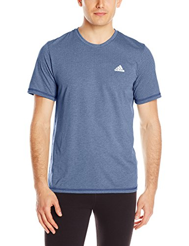 adidas Mens Aeroknit T-Shirt Collegiate Navy/Colored Heather